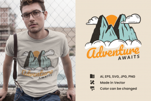 Mountains - Adventure Awaits Graphic Illustrations By Teeszone