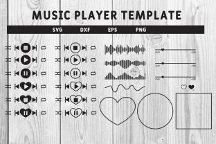 Print on Demand: Music Player Template Custom Design Svg Graphic Print Templates By dadan_pm