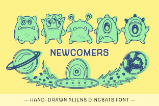 Print on Demand: Newcomers Dingbats Font By Creative Fabrica Fonts