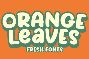 Print on Demand: Orange Leaves Display Font By Eifets