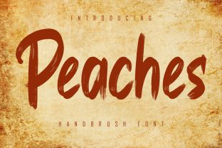 Print on Demand: Peaches Display Font By Skiiller Studio