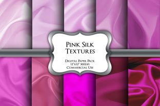 Print on Demand: Pink Silk Textures Digital Paper Pack Graphic Backgrounds By Party Pixelz
