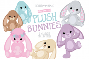 Print on Demand: Plush Bunnies Graphic Illustrations By DigitalPapers