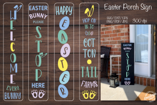 Porch Easter Sign. Easter Porch. Easter Graphic Crafts By Createya Design