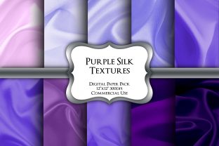 Print on Demand: Purple Silk Textures Digital Paper Pack Graphic Backgrounds By Party Pixelz
