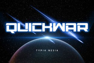 Print on Demand: Quickwar Display Font By Typia Nesia