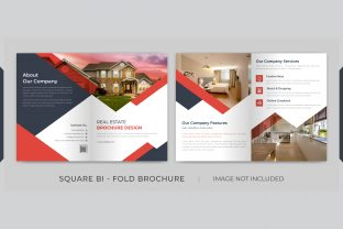 Real Estate Square Bi-fold Brochure Graphic Print Templates By grgroup03