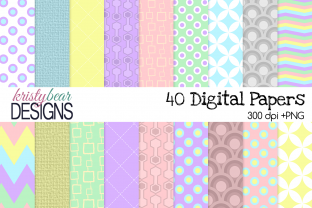 Print on Demand: Retro Spring Patterns Graphic Backgrounds By kristybear DESIGNS
