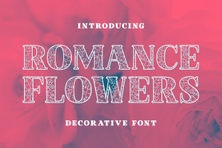 Print on Demand: Romance Flowers Decorative Font By Creative Fabrica Fonts