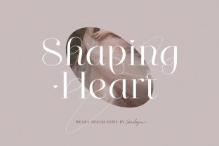 Print on Demand: Shaping Heart Serif Schriftarten von saridezra