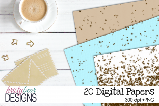 Print on Demand: Speckled Egg Digital Papers Graphic Patterns By kristybear DESIGNS