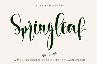 Print on Demand: Springleaf Script & Handwritten Font By thomasaradea