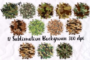 Print on Demand: Sublimation Camouflage Background PNG Graphic Print Templates By DenizDesign