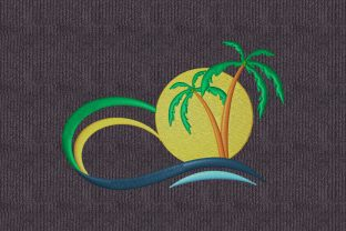 Print on Demand: Summer Landscape Summer Embroidery Design By embroidery dp 1