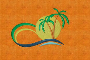 Print on Demand: Summer Landscape Summer Embroidery Design By embroidery dp 2