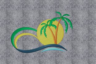 Print on Demand: Summer Landscape Summer Embroidery Design By embroidery dp 3