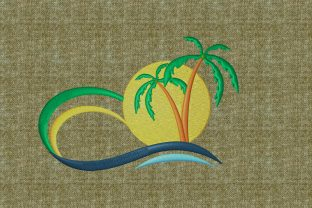 Print on Demand: Summer Landscape Summer Embroidery Design By embroidery dp 4