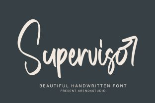 Print on Demand: Supervisor Script & Handwritten Font By Arendxstudio