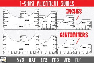 Print on Demand: T-Shirt Alignment Guide Graphic Crafts By oldmarketdesigns