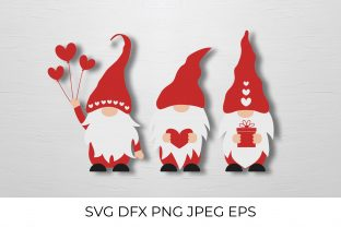 Three Funny Gnomes SVG Graphic Crafts By LaBelezoka