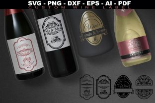 Print on Demand: Wine Labels Collection SVG Custom Label Graphic Crafts By Novart