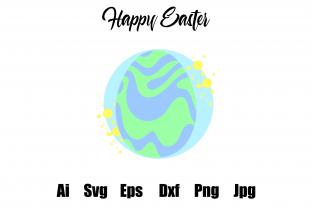 Happy Easter Egg Icons Circle Bubbles Graphic Icons By faykproject