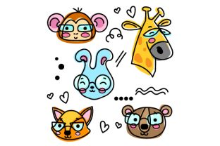 Animals Wearing Glasses Designs & Drawings Craft Cut File By Creative Fabrica Crafts