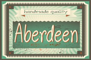 Print on Demand: Aberdeen Script & Handwritten Font By iordache.ionut