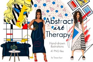 Abstract Art Therapy Clipart Graphic Illustrations By Tanya Kart