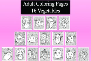 Adult Coloring Pages – 16 Vegetables Grafik KPD Innenseiten von eliteasia.salina