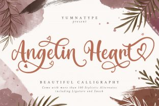 Print on Demand: Angelin Heart Script & Handwritten Font By Yumna_Type
