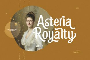Print on Demand: Asteria Royalty Display Font By letterhend