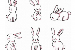 Baby Bunny Baby Animals Embroidery Design By EmbDesigns
