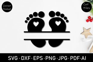 Baby Foot Print Monogram Clipart Graphic Crafts By Rizu Designs