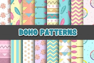 Print on Demand: Boho Aztec Digital Papers Patterns Graphic Patterns By Grafixeo