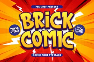 Print on Demand: Brick Comic Display Font By MaknaStudio