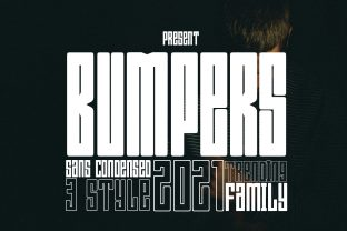Print on Demand: Bumpers Display Font By jehansyah251