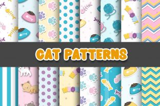 Print on Demand: Cat Digital Paper Patterns Graphic Patterns By Grafixeo