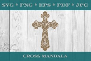 Christian Cross Mandala Christian Graphic Crafts By Designs of Whimsy