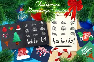 Print on Demand: Christmas Greetings Kit Graphic Illustrations By barsrsind