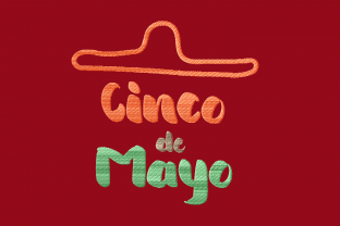 Print on Demand: Cinco De Mayo Hat with Lettering Remembrance Embroidery Design By setiyadissi