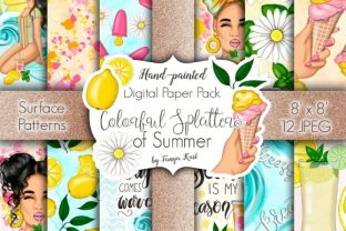 Colorful Splatters of Summer Pattern Graphic Patterns By Tanya Kart