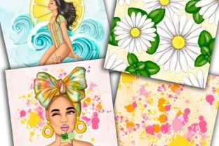 Colorful Splatters of Summer Pattern Graphic Patterns By Tanya Kart 3