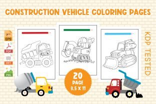 Construction Vehicles Coloring Pages Graphic Coloring Pages & Books Kids By Vibgyor