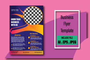 Creative Business Flyer Design Template Graphic Print Templates By abuhanif153215