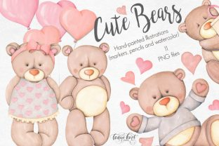Cute Bears Hand Painted Collection Graphic Illustrations By Tanya Kart