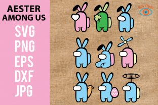 Cute Easter Among Us Set Graphic Graphic Illustrations By Taita Digital