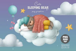 Print on Demand: Cute Sleeping Bear Clipart Graphic Illustrations By Architekt_AT