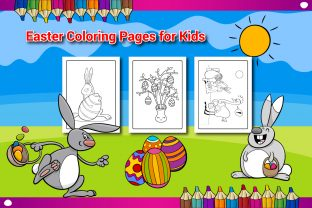 Easter Coloring Book Pages for Kids - 1 Graphic KDP Interiors By Sharif54