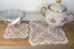FSL Square Doily Set Tea & Coffee Embroidery Design By EmbDesigns